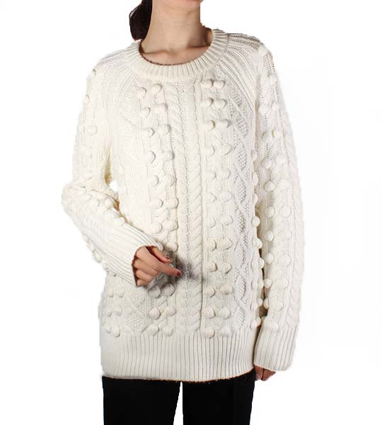 Raglan Cable Knit Long Sleeve Sweater