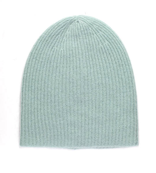 Plush Rib Beanie - Pistachio Heather