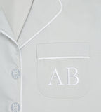 Monogrammed Blue Stripe Robe