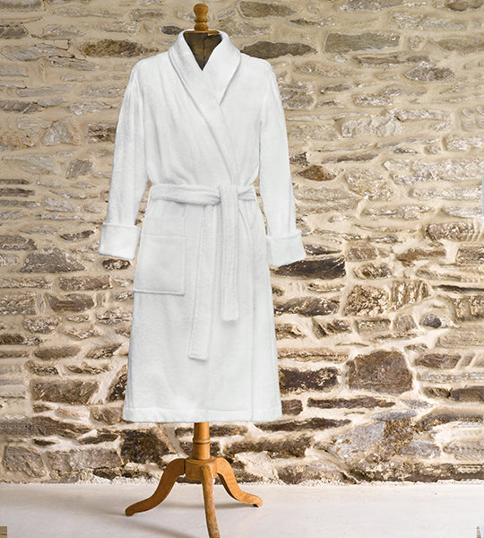 Pepa White Terry Robe