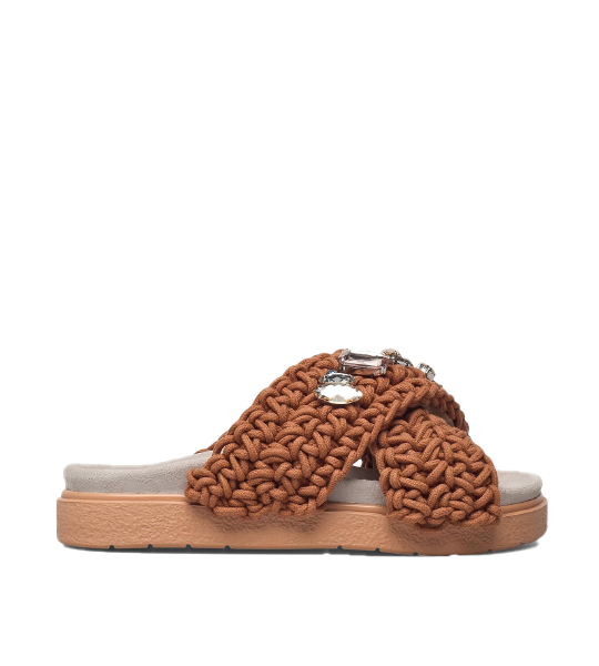 Woven Stones Sandal - Brown