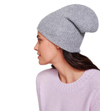 Plush Rib Beanie - Grey Heather