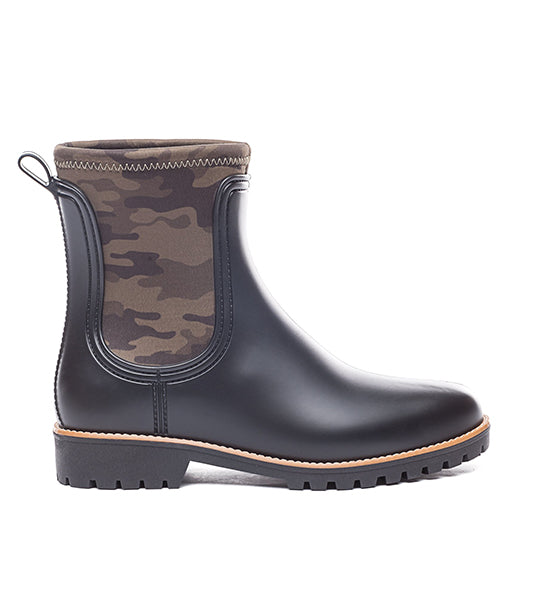 Zora Black Rainboot with Camo