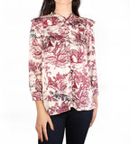 Tygg Toile Print Satin Top