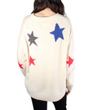 Markus C Star Cashmere Sweater - Toile