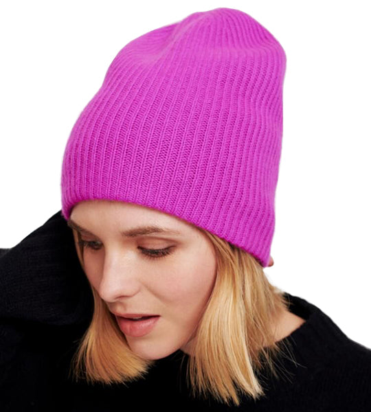 Plush Rib Beanie - Optimistic Pink