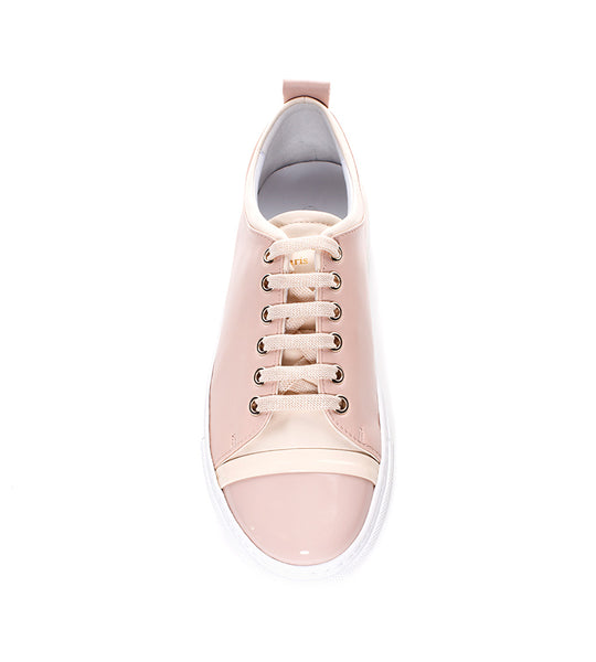 Lanvin Leather Sneaker Powder Pink - TheSeptember.com