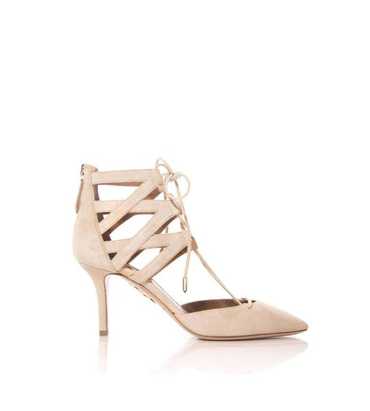 Belgravia Suede Lace-Up Sandal