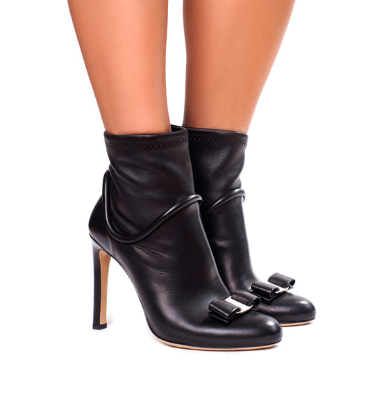 Salvatore Ferragamo Fimeny Leather Ankle Boot - TheSeptember.com