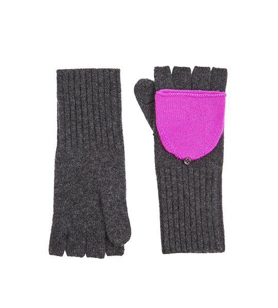 Pop Top Glove - Charcoal/ Optimistic Pink
