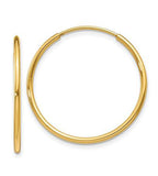 Endless 14K Gold Mid Hoop Earrings