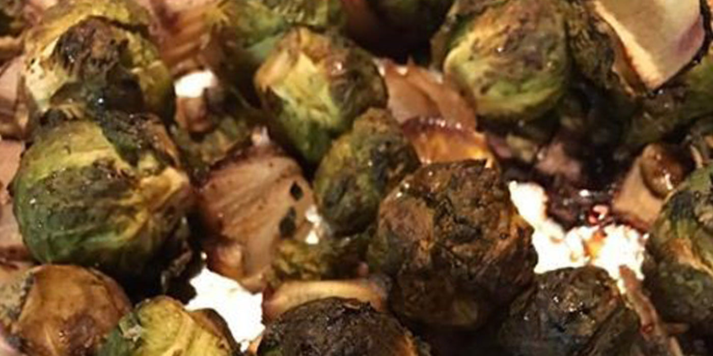 Elderberry Glazed Brussels Sprouts from the Food Fairy