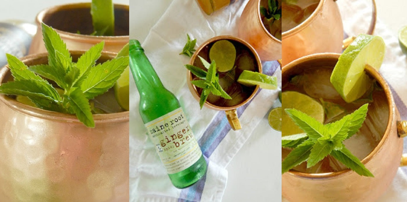 Elderflower Ginger Moscow Mules