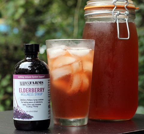 How to Make Your Own Elderberry Wellness Kombucha