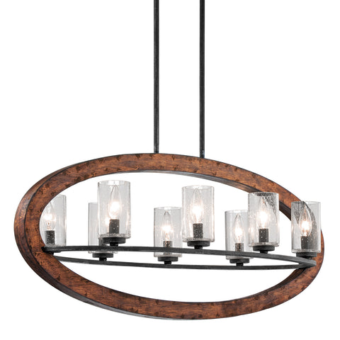 Grand Bank - Linear Chandelier 8Lt - 43191AUB
