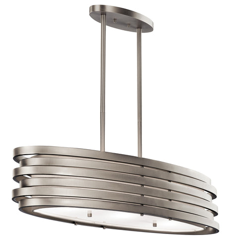 Roswell - Oval Chandelier/Pendant 3Lt - 43303NI