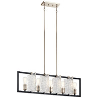 Forge - Linear Chandelier 5Lt - 43977BK
