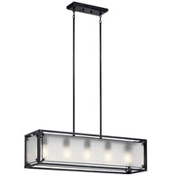 Steel - Linear Chandelier 5Lt - 44333DBK