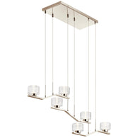Lasus - Linear Chandelier 6Lt LED - 44346PNLED