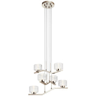 Lasus - Chandelier 6Lt LED - 44347PNLED