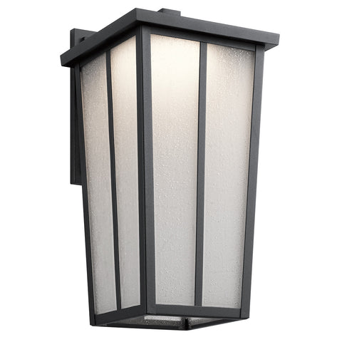 Amber Valley - Outdoor Wall 1Lt LED - 49624BKTLED