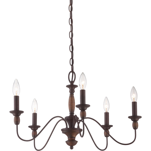 Holbrook - Chandelier tuscan brown 5lts - HK5005TC