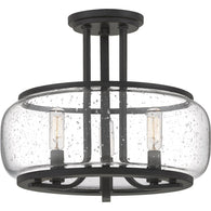 Pruitt - Semi-flush mount 3 light matte black - PRUS1714MBK