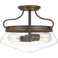 Tucker - Semi-flush mount 2 light french bronze - QF5222FR