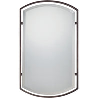 "Quoizel Reflections - Mirror plldn brnz  35""h x 21""w - QR1419PN"