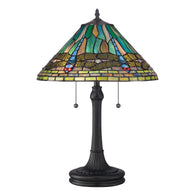 Tiffany - Table lamp tiffany vintage bronze - TF1508TVB