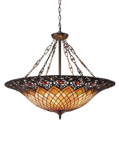 "Tiffany - Foyer fixture vint brnz 32""d - TF1901VB"