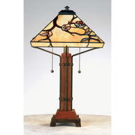 "Tiffany - Table lamp tif multi 14""sq - TF6898M"