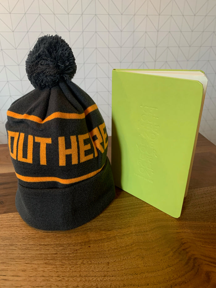BUNDLE: Out Here Yoga Journal & OHY Knit Beanie