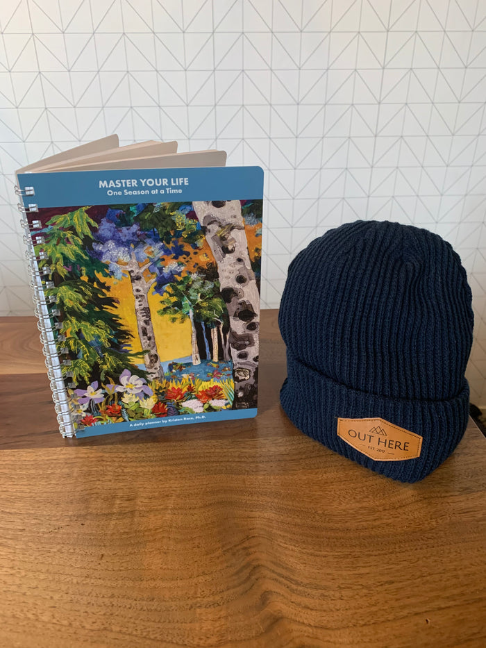 BUNDLE: Master Your Life: One Season at A Time & OHY Patch Beanie- Navy