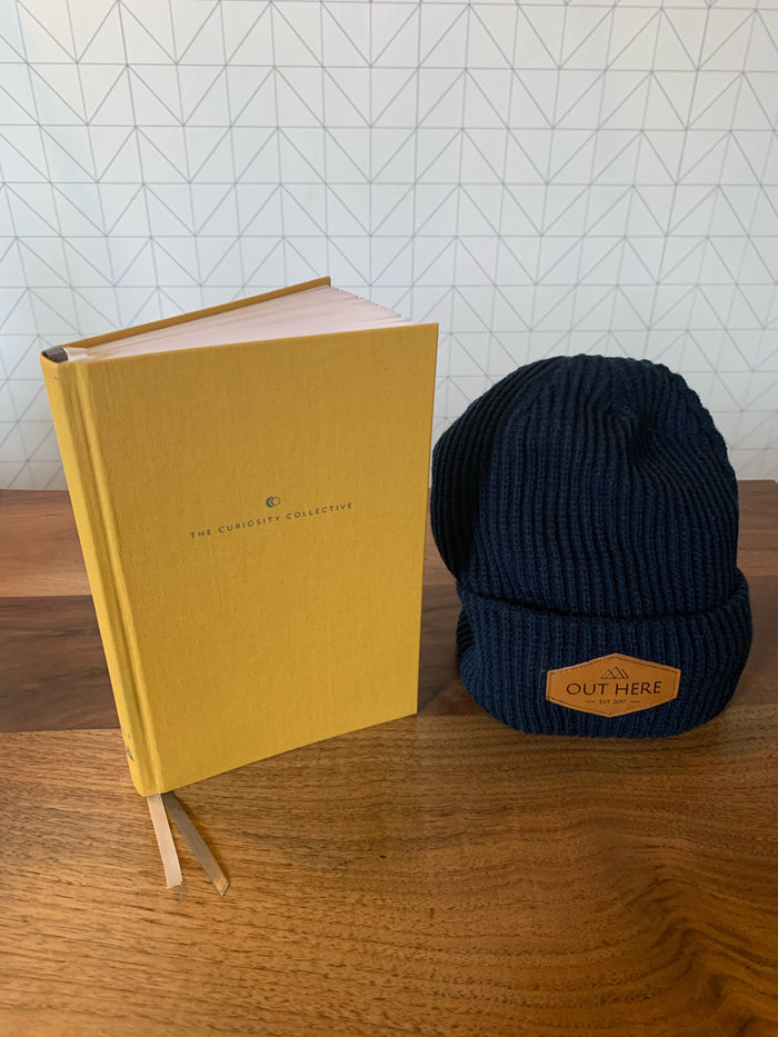 BUNDLE: The Curiosity Collective Journal & OHY Patch Beanie- Navy