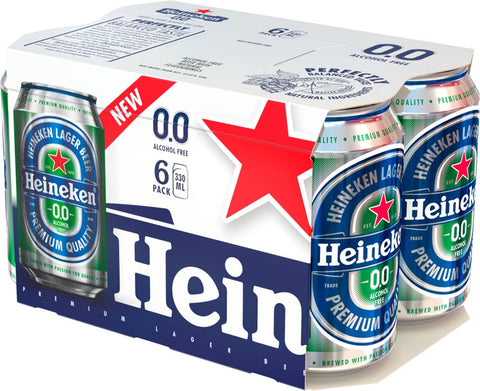 Heineken 0.0 330ml Cans (Pack of 6 Cans)
