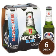 Beck's Blue Alcohol Free Beer (Pack of 6 bottles) *Contains 0.05% Alcohol