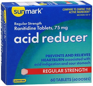 Sunmark® Antacid 75 mg Strength Tablet 60 per Box