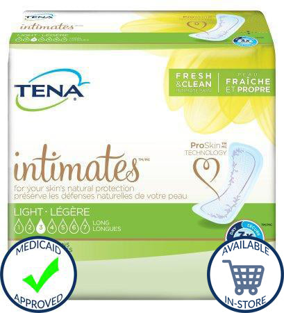 Bladder Control Pad TENA® Intimates™ 10 Inch Length Light Absorbency Polymer Female Disposable