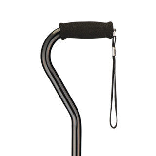 Nova Offset Bariatric Cane with Strap- Black