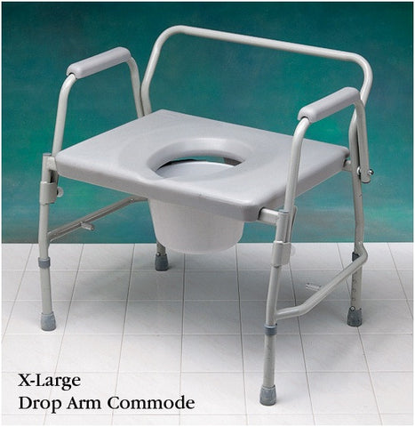 X-Large Drop Arm Commode 400 lb. Cap. **