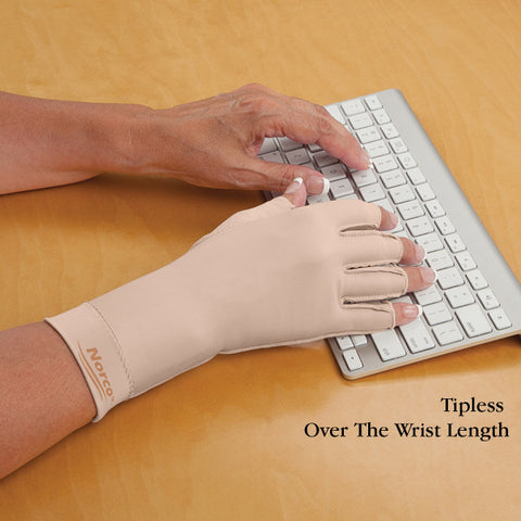 Compression Glove, Over Wrist, 3/4