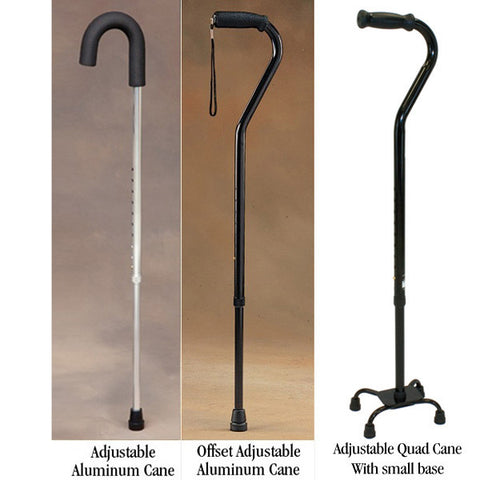 Offset Adjustable Cane Black