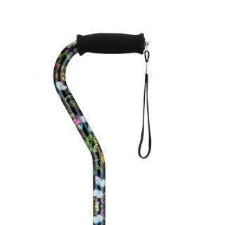Nova Offset Cane with Strap - Butterflies