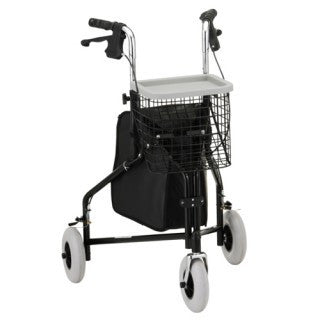 Nova Traveller 3 Wheel Walker - Black