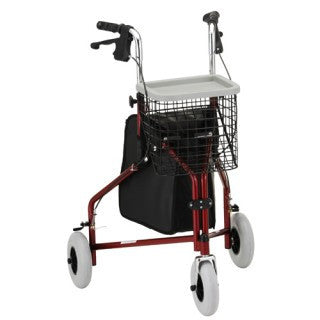 Nova Traveller 3 Wheel Walker - Red