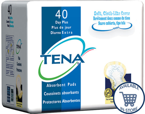 Tena® Bladder Control Pad Day Plus Heavy Absorbency Polymer Unisex Disposable