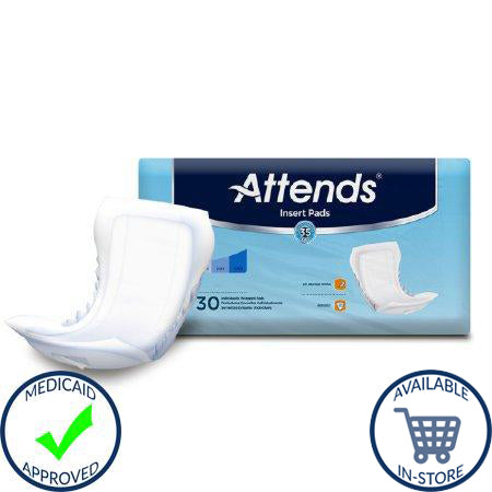 Incontinence Liner Attends® Insert 18 Inch Length Moderate Absorbency Polymer Unisex Disposable