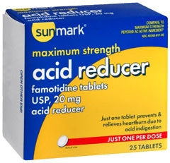 Sunmark® Antacid 20 mg Strength Tablet 25 per Box
