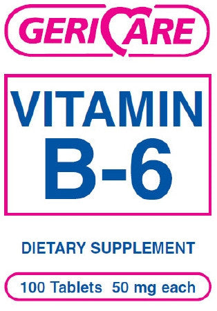 McKesson Brand Vitamin B-6 Supplement 50 mg Strength Tablet
